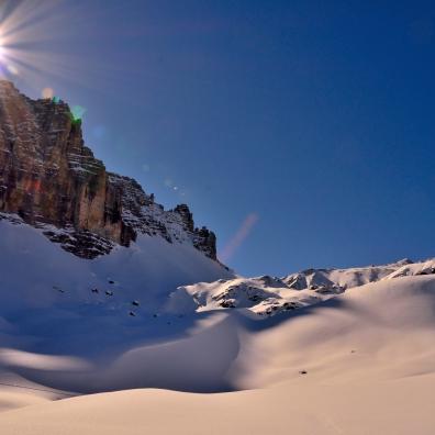 Die Sonne über der Großen Ochsenwand
