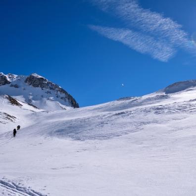 Zweiter Aufstieg zum Stempeljoch, vorbei an der Thaurer Jochspitze