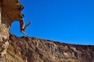 Auch am Strand kann man bouldern ;)