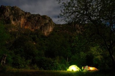 Unser Schlaflager in Rocha de Pena