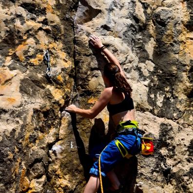 Auch in Farol da Guia war der Fels größtenteils erstklassig