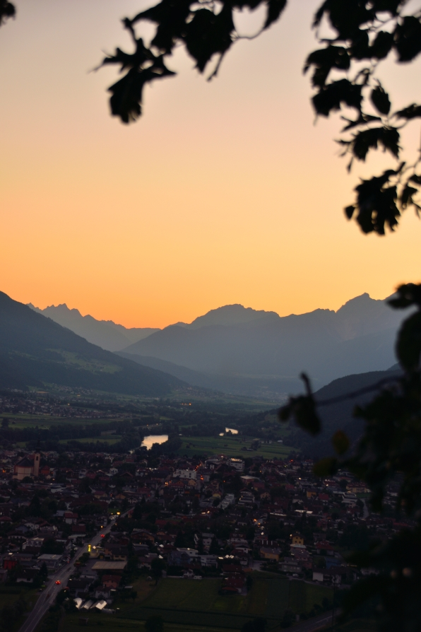 Sonnenuntergang über Zirl