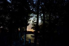 Blick Richtung Riva del Garda mit dem aufgehenden Mond