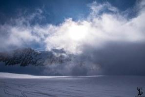 Wolkenverhangener Pfaffenschneid