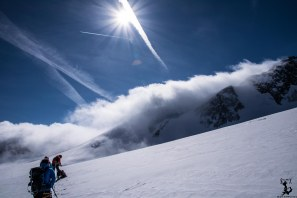 Gigantische Stimmung, nur das Ziel hängt in den Wolken