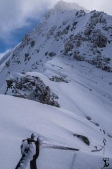Der Anfang des Klettersteigs