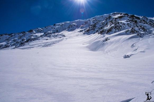 Stellenweise perfekter Schnee
