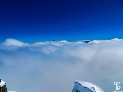 Super Blick auf das Wolkenmeer