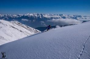 Gute Schneeverhältnisse oberhalb...
