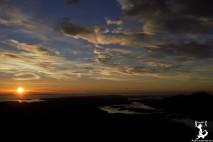 Sonnenuntergang vom Meall a Ghiubhais