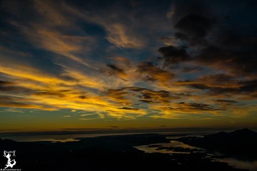 """Sonnenuntergang vom """"Meall a Ghiubhais"""""""