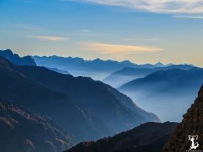Der Blick zurück in die italienischen Alpem