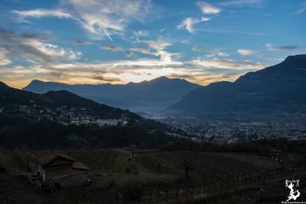 Sonnenuntergang in Noriglio bei Roverto