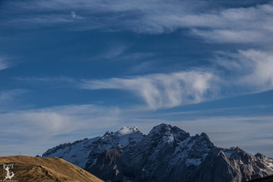 Mondaufgang über der Marmolata