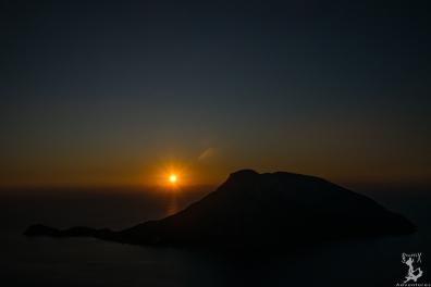 Telendos im Sonnenuntergangslicht