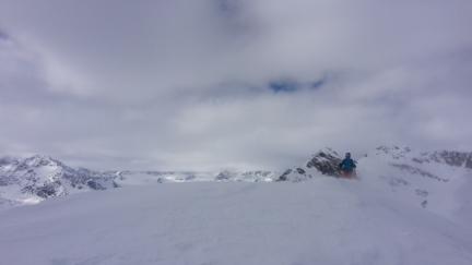 Windiger Gipfelgrat
