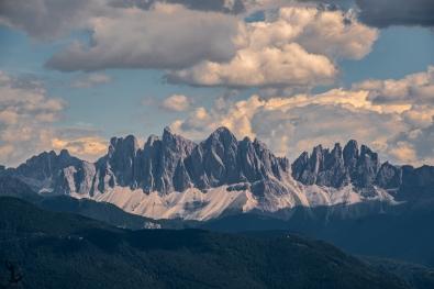 Das Ambiente der Dolomiten im Rücken