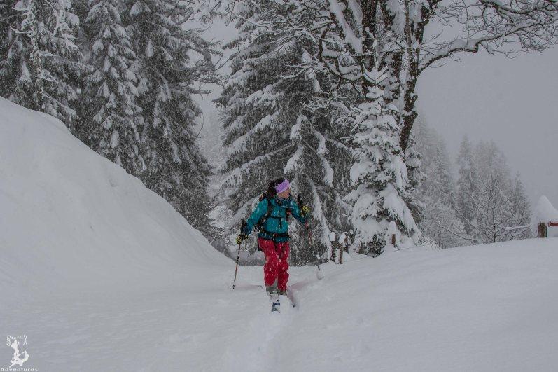 Starker Schneefall beim Aufstieg - Balsam für die Seele